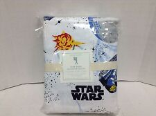 Pottery Barn Kids Star Wars Flannel Bed Duvet Cover Millennium Falcon F/Q darth