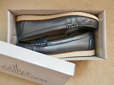 *NEW* Navy Blue Leather Loafers Size 7