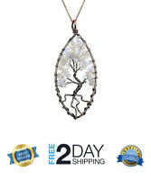 [BIRTHDAY GIFTS FOR WIFE GIRLFRIEND WOMEN MOM] TREE OF LIFE CRYSTAL NECKLACE