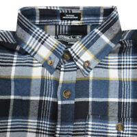 O'Neill Boy's Blue Plaid L/S Flannel Shirt (Retail $40) (Size S)