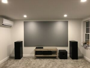 Elite Screens Edge Free Aeon CineGrey 3D Series 120-inch 16:9 for Home Theater