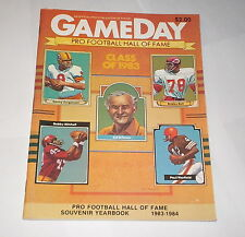 1983 GAMEDAY program HALL of FAME game PITTSBURGH STEELERS v NEW ORLEANS SAINTS
