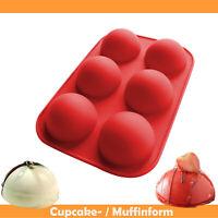 Silikon Mulden Backform Halbkugel Muffinform Törtchenform Silikonform Kuchenform