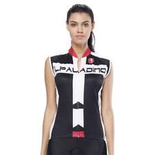 Women Ladies Cycling Jerseys Sleeveless Bike Shirts Clothing Black S-3XL