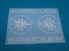 Kreidler Mofa Schriftzug + Logo  MF Aufkleber Sticker Schriftzug Dekor WEISS