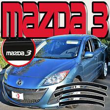 MAZDA 3 SEDAN 2010-2013 4 DOOR WINDOW DEFLECTORS DOOR VISORS + J-SPEC LOGO