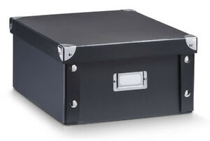 Aufbewahrungsbox schwarz Pappbox Box Aufbewahrungskiste