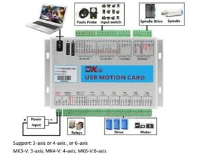 MK3-V CNC Mach3 USB 3 Axis Motion Control Card Breakout Board