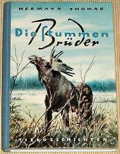 Hernann Thomas - DIE STUMMEN BRÜDER - 26 Tiergeschichten im Jahreslauf - HC 1955