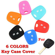 2 Button Key Silicone Cover Case For Peugeot 307 107 207 405 Citroen C3 C5Si