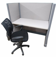 """Pod of 4 - Refurbished Herman Miller 24"""" x 48 call center cubicles in your color"""