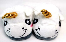 Hausschuhe Einhorn Pantoffeln Plüsch Puschen Unicorn Schuhe Schlappen Kinder G36