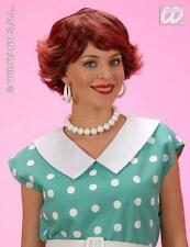 Ladies Short Brown Wig Audrey Hepburn Housewife Fancy Dress