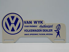 """License Plate Topper VOLKSWAGON VAN WYK AUTHORIZED DEALER 5 1/4"""" H BY 11"""" W"""