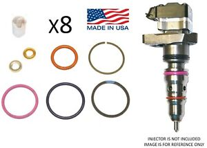 for 94-03 7.3L Ford Powerstroke Diesel Injector O-Ring Kit Set of 8