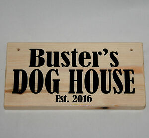 Personalised Name DOG HOUSE Est. 2021 Pup Puppy Kennel Outdoor Sign Plaque
