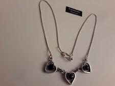 Onyx Collar 925er Plata Ejemplar Único Joya