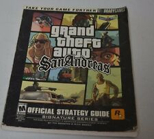 USED Grand Theft Auto San Andreas Strategy Guide BradyGames (NO POSTER) GTA PS2
