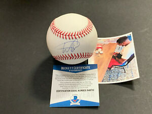 Wander Franco Tampa Rays Autographed Signed MLB Baseball BECKETT ROOKIE COA