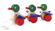 Wooden Pull Toy - Duck Family - Pull Along 3104