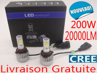 200W 20000LM H1 CREE LED Ampoule Voiture Feux Phare Lampe Kit Xénon Blanc 6000K