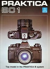PRAKTICA BC1 35mm SLR CAMERA BROCHURE -PRAKTICA CAMERA