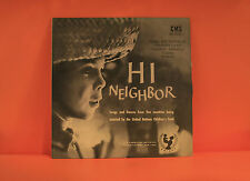 HI NEIGHBOR #1 - SONGS FROM INDONESIA, ITALY, LEBANON, UGANDA / VG+ VINYL LP -S