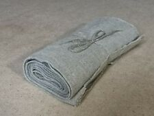 Antique Linen Homespun Fabric / Handmade linen fabric Great Condition №2