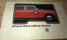 1974 AUSTIN  Sales Brochure Allegro Maxi  1800 MINI CLUBMAN 1275 GT etc