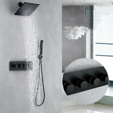 Bathroom Products Black shower Set 4 Handles Mixer Valve 8