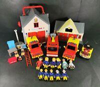 Fireman Sam Playset of Vehicles and Figurines Building Bundle