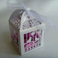 5x BIRDCAGE WHITE BABY SHOWER CHRISTENING WEDDING FAVOUR BONBONNIERE BOXES