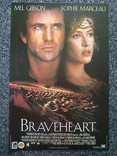 BRAVEHEART Original 1990s Movie Poster Mel Gibson, Sophie Marceau