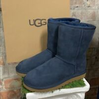 NIB UGG Women's Classic Short II Winter Boots Navy Suede Authentic - Pick Size