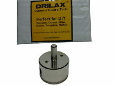 DRILAX 2 inch Diamond Coated Drill Bit Hole Saw Glass Ceramic Granite Tile Stone