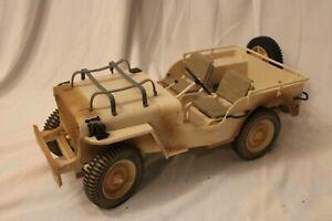 "GI Joe Hasbro 1/6 Scale Jeep Desert Patrol Vehicle  12"" 12 inch"