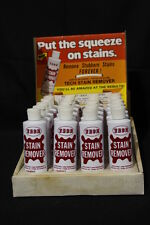 NOS Vintage Tech Stain Remover-8oz Store Display with 20 Bottles