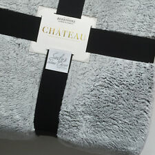 Berkshire FROSTED TIP Faux Fur *QUEEN BED BLANKET Cabin Lodge WHITE GRAY fluffy