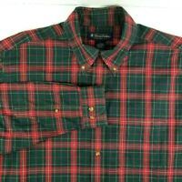 Brooks Brothers Mens Long Sleeve Casual Shirt Size L Large Red Green Plaid