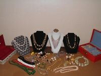 Vintage Costume Jewelry 350+ Piece Mixed Lot Plus Jewelry Boxes