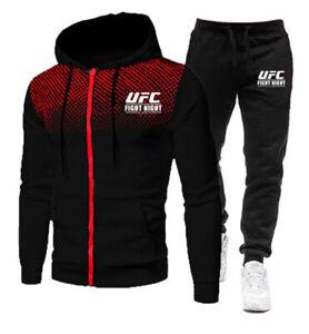 Herren Jogging Anzug Trainingsanzug Hoodie+Hosen Sport Sweatshirt Fitness Gym ++