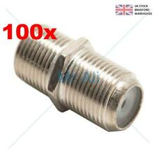 100 X Joiner Barrel Connector F Plug Coupler Adaptor 4 Sky Plus HD TV Coax Cable