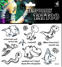 Dino Fake Tattoo 1 Bogen  einmal tatoo tatto temporary tattu tatu Dinosaurier