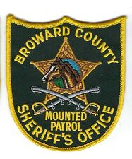 Broward County FL Florida Sheriff's Office MOUNTED PATROL Equine patch - NEW!