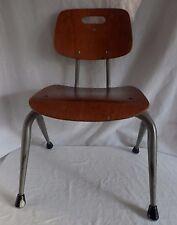 Vintage Mid Century Modern Brunswick Bentwood Wood Kids Childs School Desk Chair