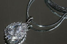 Pear Excellent Cut Fine Diamond Necklaces & Pendants
