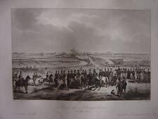 Grande gravure de la Prise de PAMPELUNE Pamplona Iruna Iruñea  16 septembre 1823