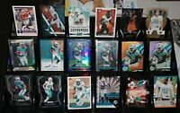 Dolphins auto RC refractor Prizm serial # lot Jay Ajayi Leonte Carroo Frank Gore