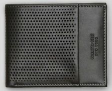 New Authentic Kenneth Cole Men Perforated Leather Double Billfold Wallet SALE