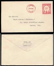 GB METER FRANKING 1940 BOVRIL LTD PRINTED FLAP ENVELOPE